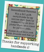 Win a $20 gift certificate! Deadline Jan 1, 2013 by SecondHandCaravan