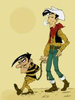 Lucky Luke by mr-book-faced