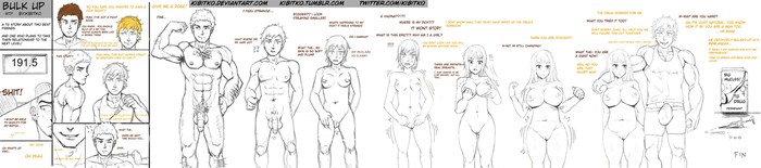 Bulk Up WIP TG Comic Sequence (NSFW) by Kibitko