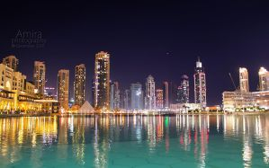 Business bay view from Dubai mall by amirajuli