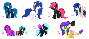Re-selling old ocs [OPEN] by Starleay120