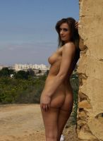 Faye nude in the ruins 13 by martinrobinson