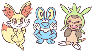 XY Starters by SonicRocksMySocks