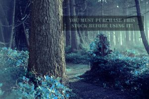 The Forest Whispers Blue Stock by TEMPERATE-SAGE