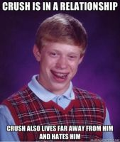 Bad Luck Brian - Crush is in a Relationship by juanito316ss