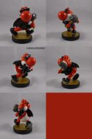 Yoshi Red Jacket Wings Hammer by ChibiSilverWings