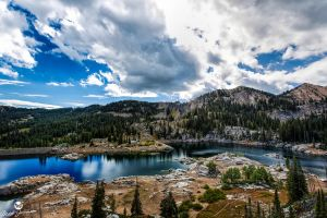 Wide Angle of Lake Mary by mjohanson