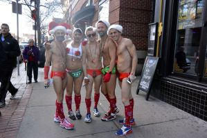 2015 Santa Speedo Run, Posing Arrivals by Miss-Tbones