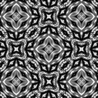 Monochromatic pattern I by Kancano
