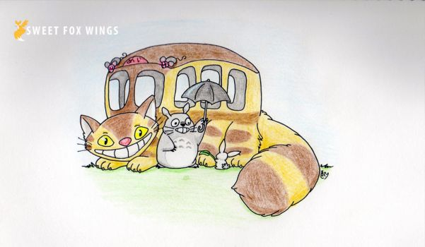 Totoro bus ride by Sweet-Fox-Wings