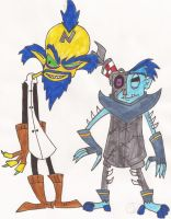 Cortex and N. Gin Redesign by DoofenEmpire