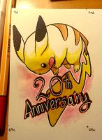 Pokemon 20th anniversary by Lumaga
