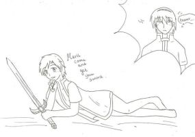 Marth's sword xD by SparxPunx