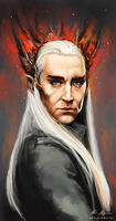 The Elven King Thranduil by nirnalie