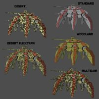 Crab Mech Camo variations by goeliath
