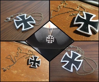 German Cross Necklace-Hetalia Fem!Germany Cosplay by FullMoon74