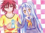 No Game No Life: Sora and Shiro by MagicalMadoka