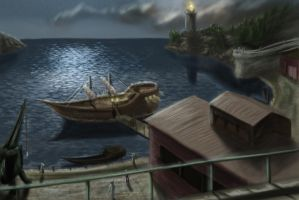 Siltyrian Seaport by TatterTailArt