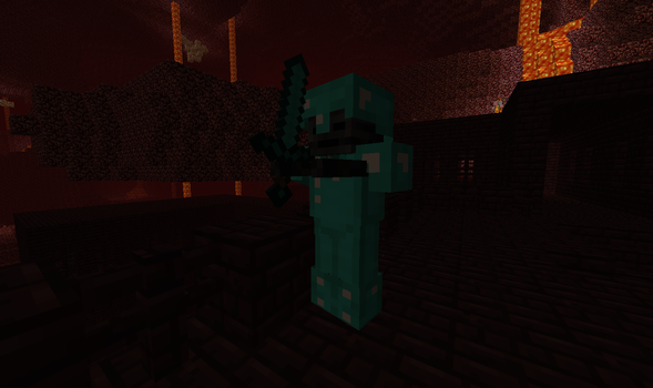 Wither skeleton in a diamond armor - Minecraft by GunnarCool