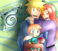 NaruSaku-Family by CrispyGray