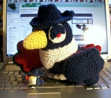 New Honchkrow Crochet Plush by First-Mate-Kate