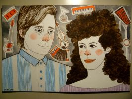Win Butler and Regine Chassagne by lawlosaur