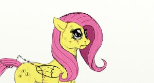 Just barbed wire fluttershy by Tunskaa