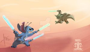 Yoda and Stitch by SEL-artworks