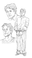Harry Houdini sketches by mistermuck