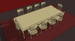 Dining Table and Chairs by EmeraldTokyo