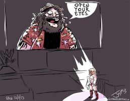 Bray Wyatt and Daniel Bryan-Monday Night Draw by JonDavidGuerra