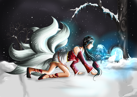 Ahri Nine Tailed Fox Lady by Crescendica