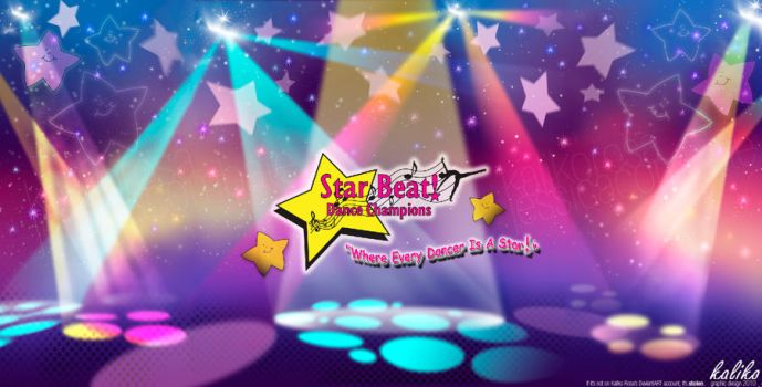 Star Beat Dance Stage Backdrop by kaliko-rosa