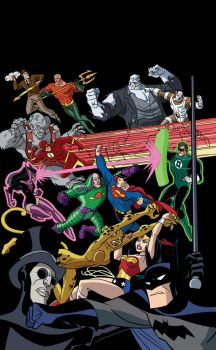 Justice League vs. Injustice Gang cover by TimLevins