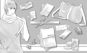 Kamenoko University: What's in Hiro's Bag? by mintokei
