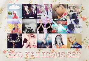 EXO Kai Icons Set by kamjong-kai