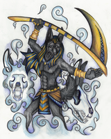 Anubis Dark Magic by MorRokko