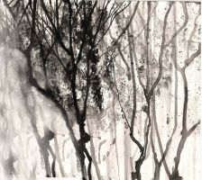 Inked Trees by vihuang