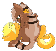 mothwing and leafpool by Singerwolf