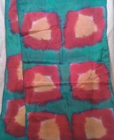 Red Green and Yellow Silk Scarf by kriswindwalker