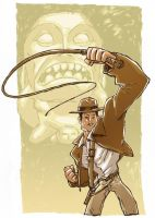 Indiana Jones Sketch by DerekHunter
