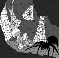 Tinkerbell in the Spider's Lair by filthnails