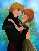 Anna and Kristoff by LahArts