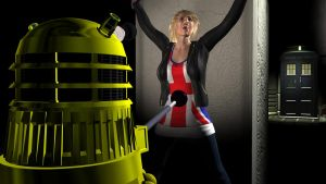 Dalek Tickling Rose Tyler 1 by Threedimaxofmymind