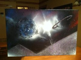 My first spray painting by Flylend