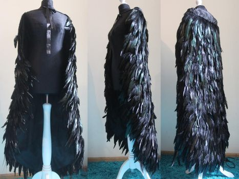 Feather cloak by Pinkabsinthe