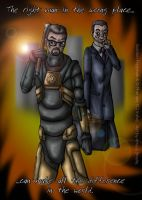 HL2 - Freeman and the G-Man by AmyJSmylie