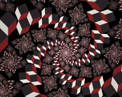 cube spiralling madness by cyberxaos