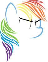Basal Rainbow Dash by Flizzick