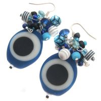 Blue Resin Earrings by fairy-cakes